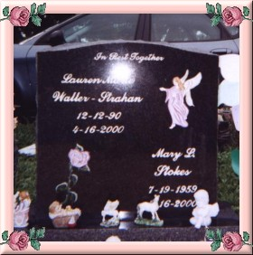 The front of her headstone