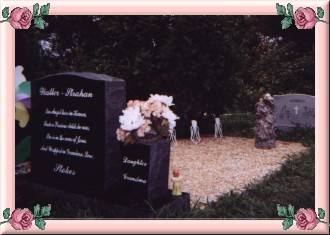 The back of her headstone